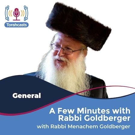 A Few Minutes with Rabbi Goldberger